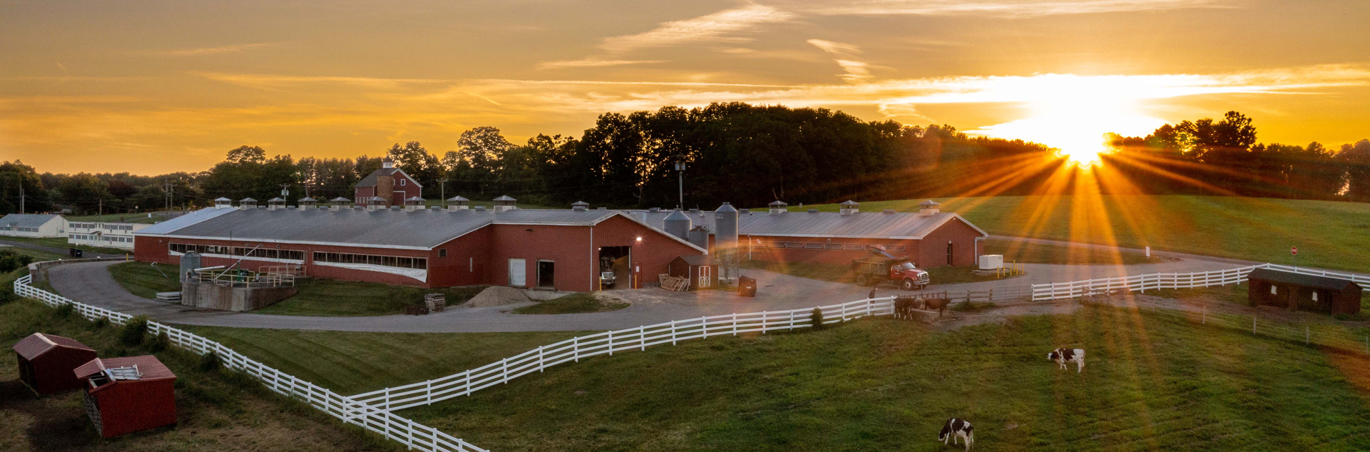 Dairy Center at sunset